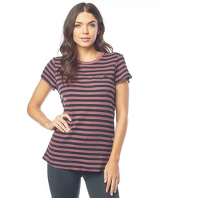 Fox Striped Out T-Shirt Dames roze/zwart